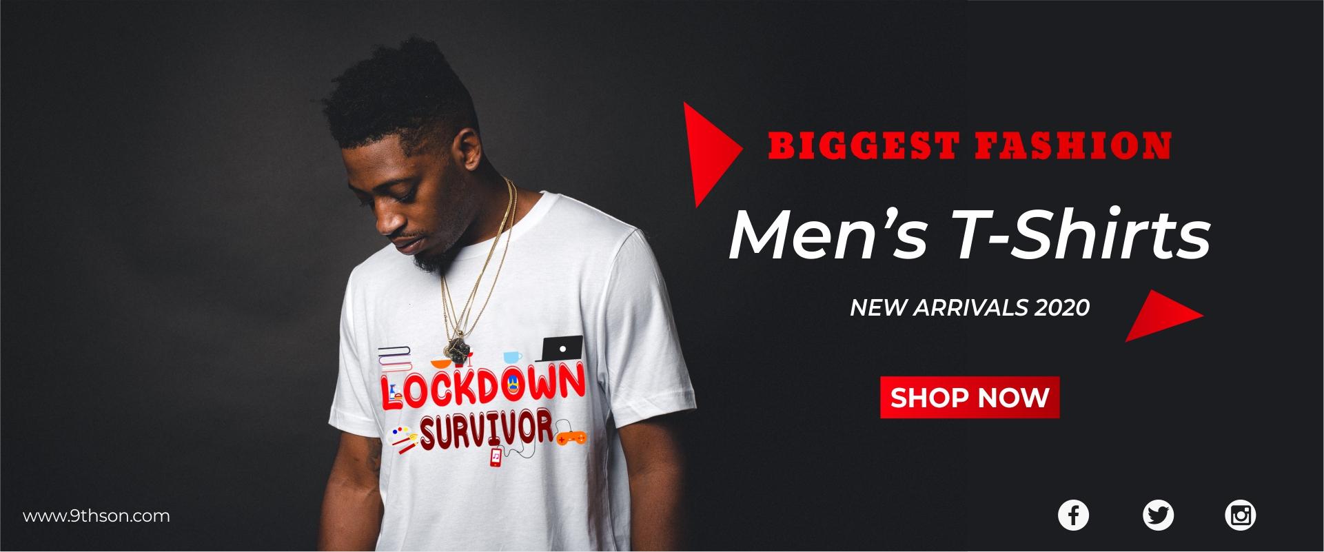 Lock Down Survior Mens T Shirt - Online