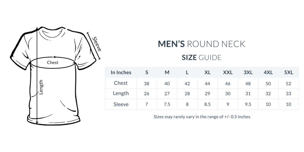 Men Round Updated with 5XL 2