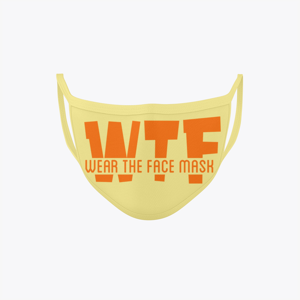 WTF Face Mask Online Butter Yellow
