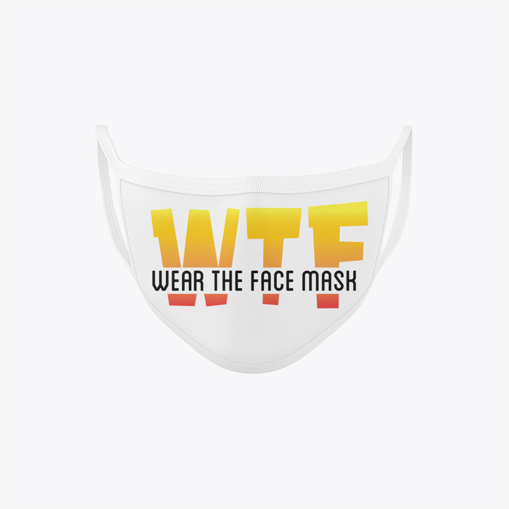 WTF Face Mask Online White